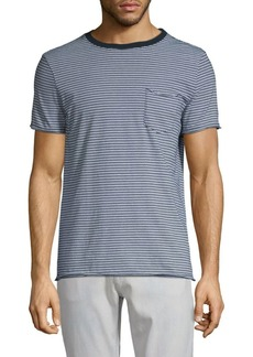 AG Adriano Goldschmied Striped Cotton Tee