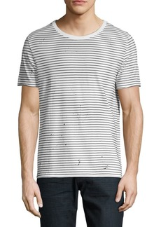 AG Adriano Goldschmied Striped Crew Tee