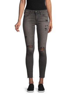 AG Adriano Goldschmied Super-Skinny Distressed Ankle Jeans
