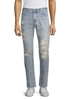AG Adriano Goldschmied Tellis Distressed Slim-Fit Jeans