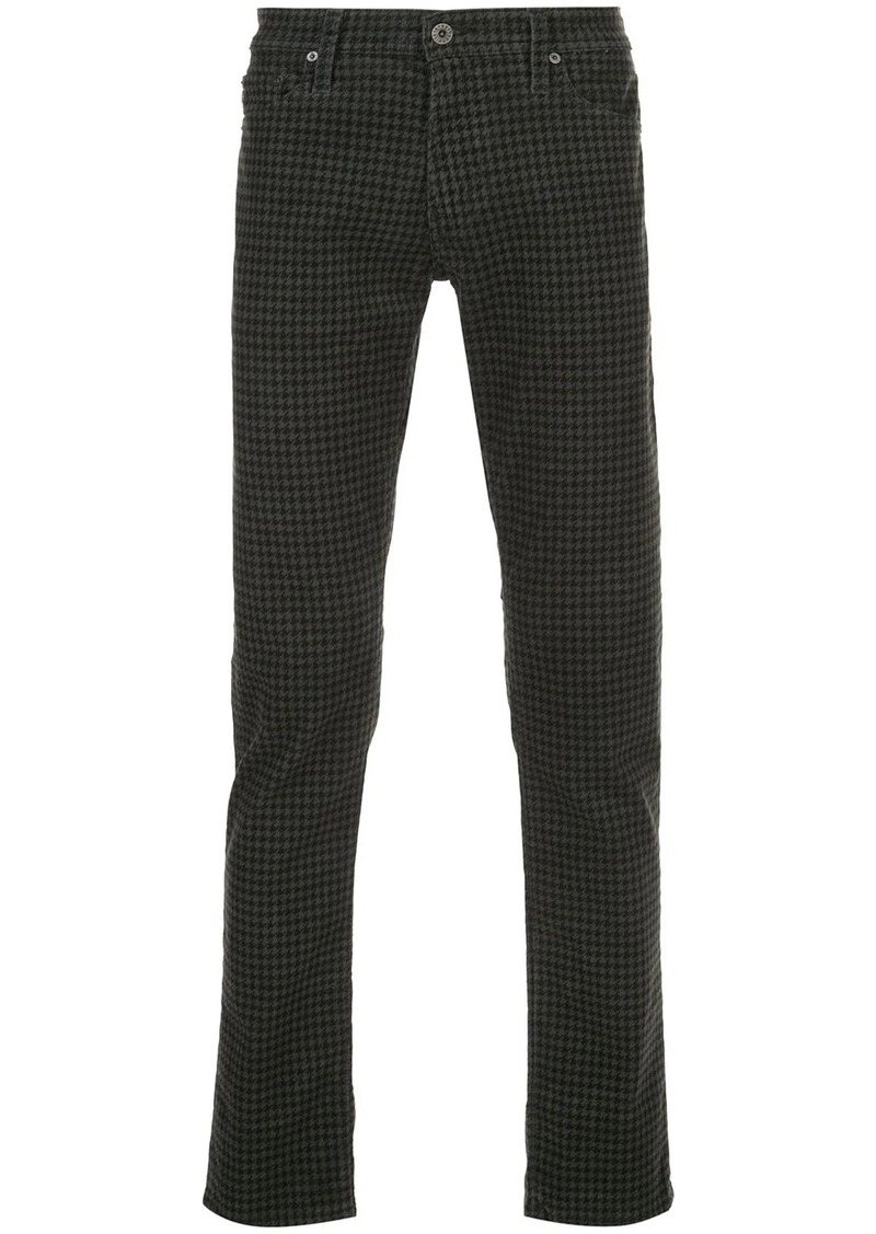 AG Adriano Goldschmied Tellis houndstooth slim-fit trousers