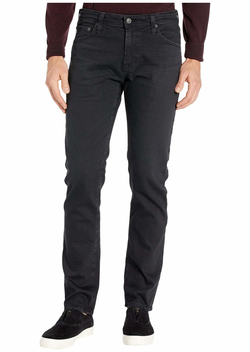 AG Adriano Goldschmied Tellis Modern Slim Leg Jeans in 7 Years Pure Black