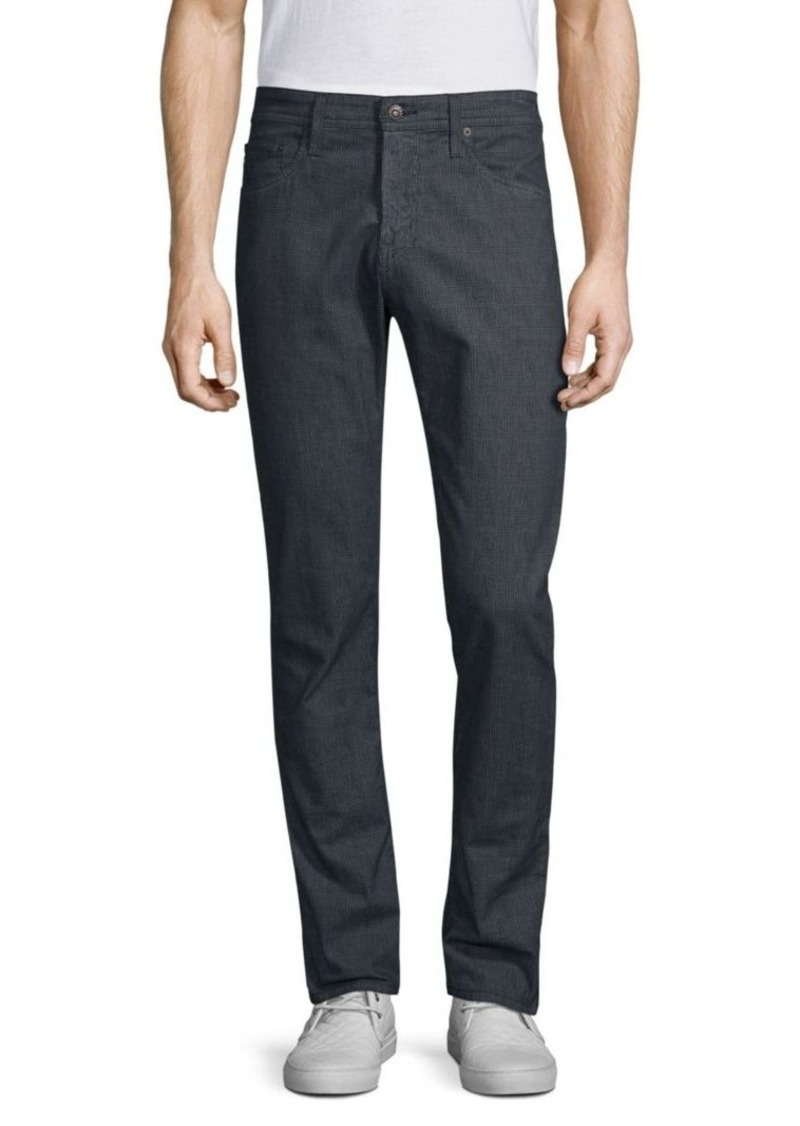 AG Adriano Goldschmied Tellis Plaid Printed Twill Pants