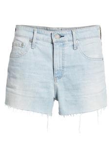 AG Adriano Goldschmied The Bryn High Waist Cutoff Denim Shorts (Indigo Deluge Destructed)