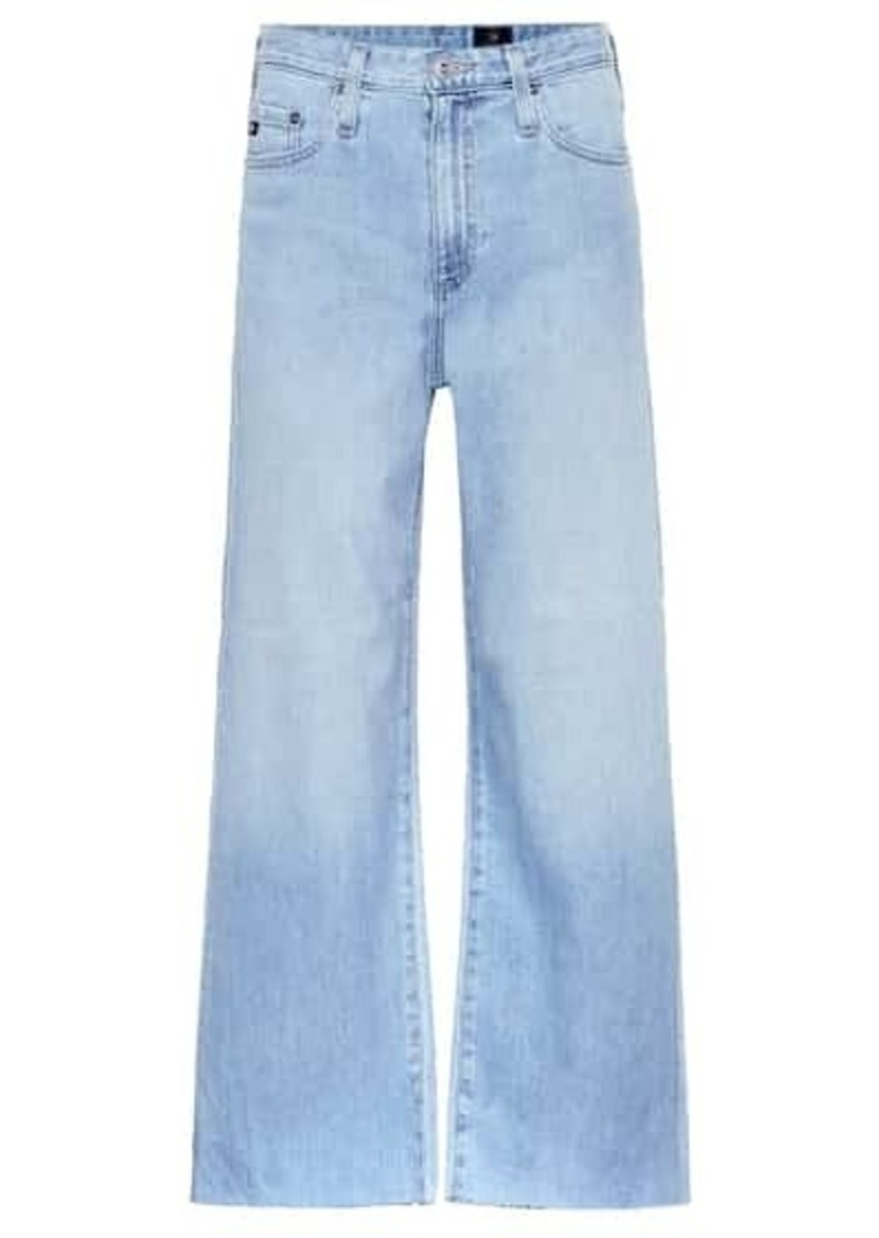 AG Adriano Goldschmied The Etta cropped wide-leg jeans