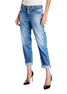 AG Adriano Goldschmied The Ex-Boyfriend Mid-Rise Tapered Jeans