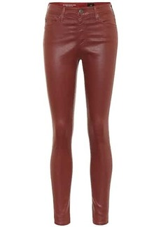 AG Adriano Goldschmied The Farrah Ankle sateen skinny pants