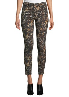 AG Adriano Goldschmied The Farrah High-Rise Animal-Print Camo Skinny Jeans
