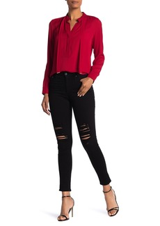 AG Adriano Goldschmied The Farrah High Waist Ankle Skinny Faux Leather Jeans