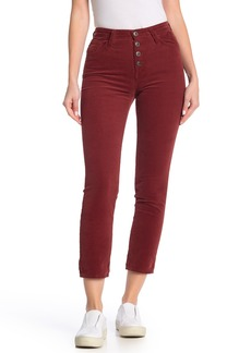 AG Adriano Goldschmied The Isabelle Button High Waist Ankle Straight Leg Jeans