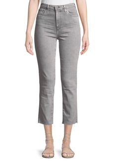 AG Adriano Goldschmied The Isabelle Cropped Raw-Hem Jeans