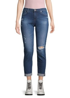 AG Adriano Goldschmied The Prima Rolled-Cuff Destroy Jeans