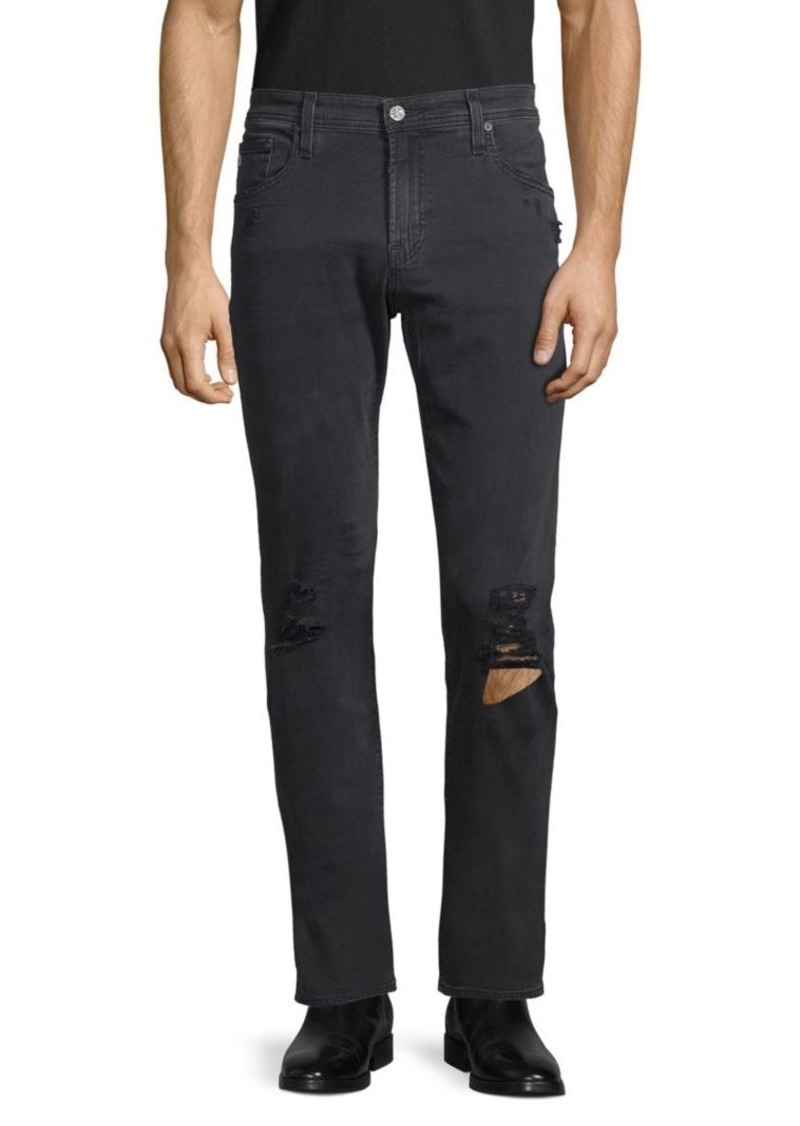 AG Adriano Goldschmied The Tellis Modern Slim-Fit Disress Jeans