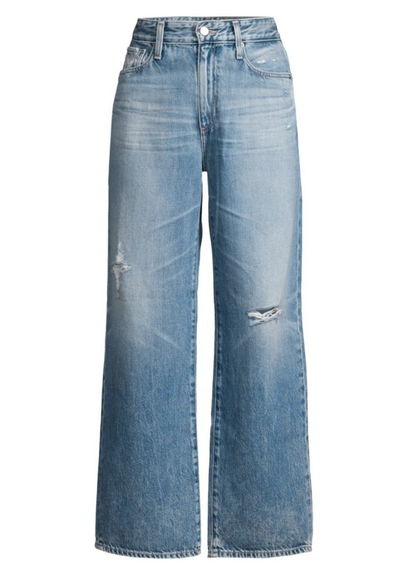 AG Adriano Goldschmied Tomas High Rise Distressed Straight Jeans