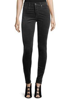 AG Adriano Goldschmied Velvet Farrah High Rise Skinny Pants