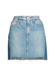 AG Adriano Goldschmied Vera Two-Tone Mini Skirt