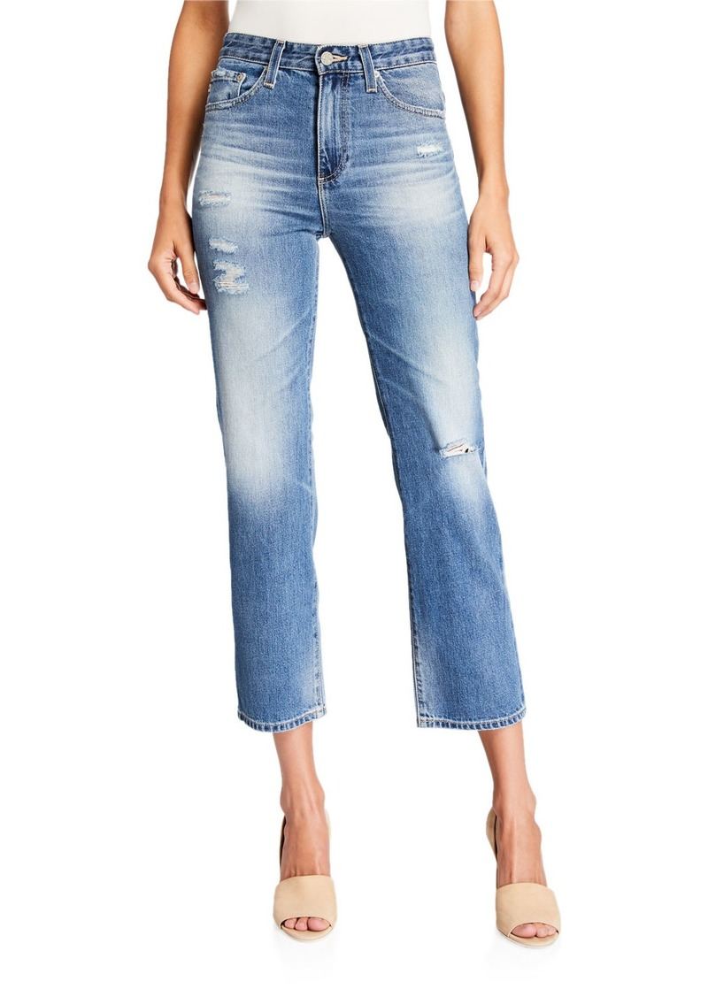 AG Adriano Goldschmied Vintage High-Rise Straight-Leg Jeans
