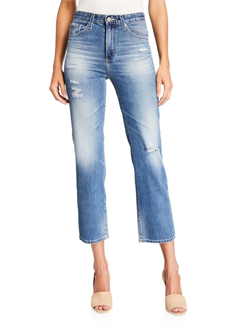 Vintage High-Rise Straight-Leg Jeans