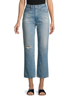 AG Adriano Goldschmied High-Waist Straight Crop Jeans