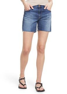 AG Adriano Goldschmied Women's Ag Becke Raw Hem Denim Shorts