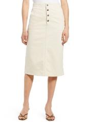 AG Adriano Goldschmied Women's Ag Selina Button Fly Denim Skirt