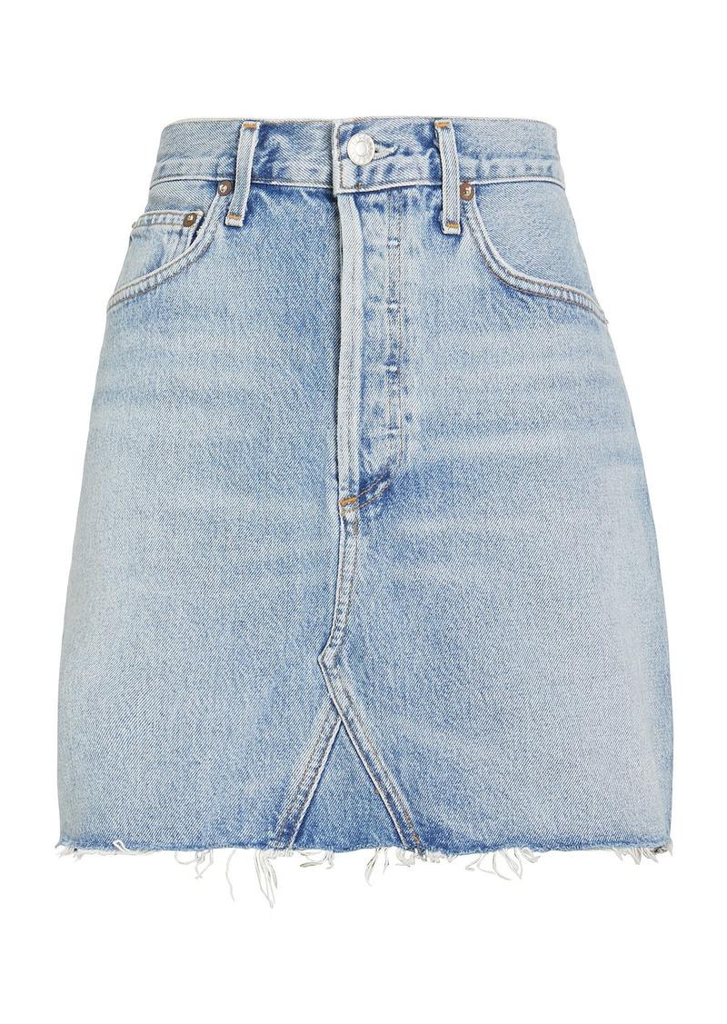 Agolde Ada Denim Mini Skirt