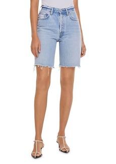AGOLDE 90s Pinch Waist Jean Shorts in Latitude