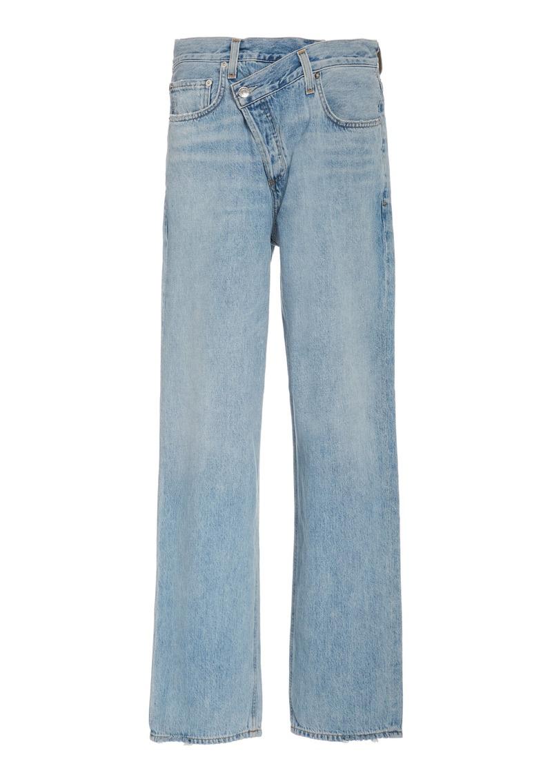 Agolde Criss Cross Upsized High-Rise Straight-Leg Jean