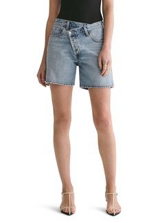 AGOLDE Criss Cross Upsized Organic Cotton Denim Shorts (Momentum)