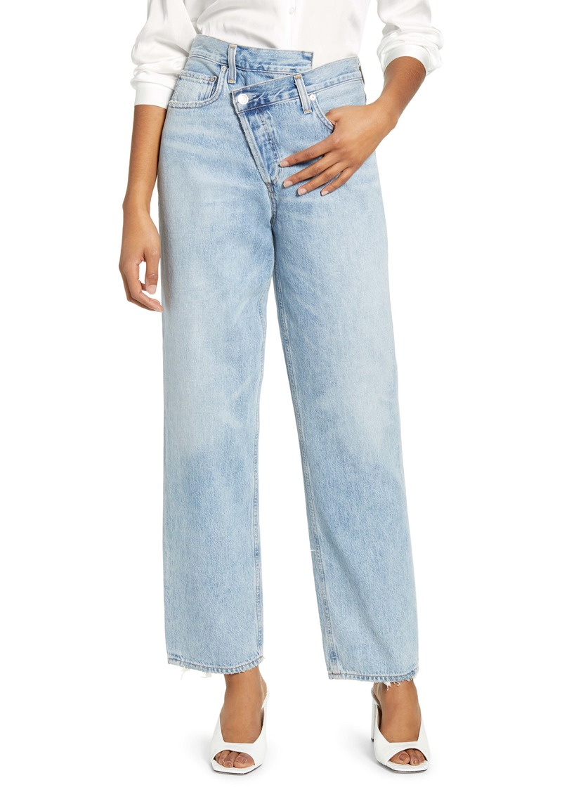 AGOLDE Crisscross Upsize High Waist Jeans (Suburbia)