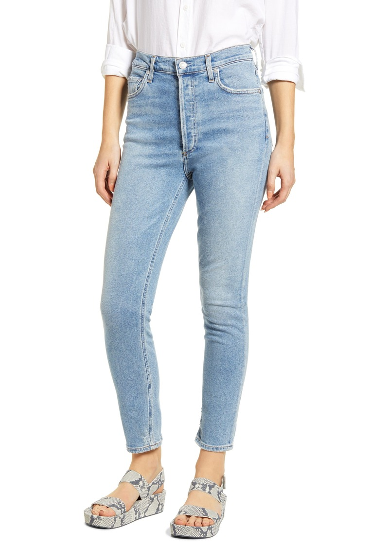 AGOLDE Nico High Waist Ankle Slim Fit Jeans (Embark)
