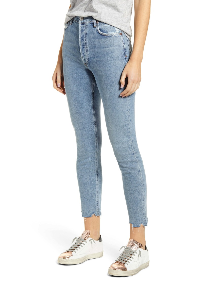 AGOLDE Nico High Waist Ankle Slim Fit Jeans (Rooted)