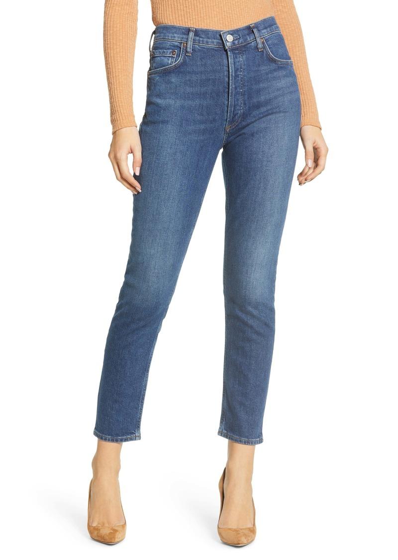 AGOLDE Nico High Waist Slim Fit Jeans (Fixation)