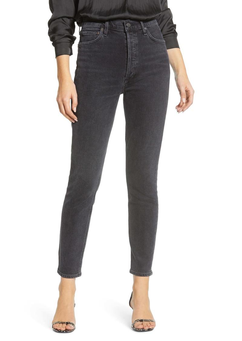 AGOLDE Nico High Waist Slim Leg Jeans (Virtue)