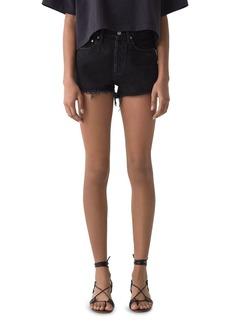 AGOLDE Parker Cutoff Denim Shorts in Tidal