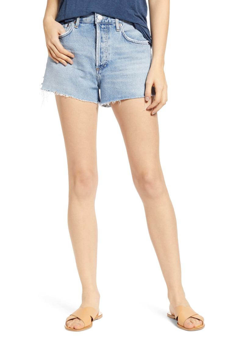 AGOLDE Parker Cutoff Organic Cotton Denim Shorts (Riptide)