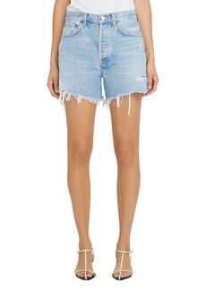 AGOLDE Parker Long Denim Shorts in Swapmeet