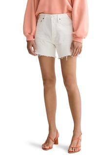 AGOLDE Reese High Waist Denim Shorts (Tissue)