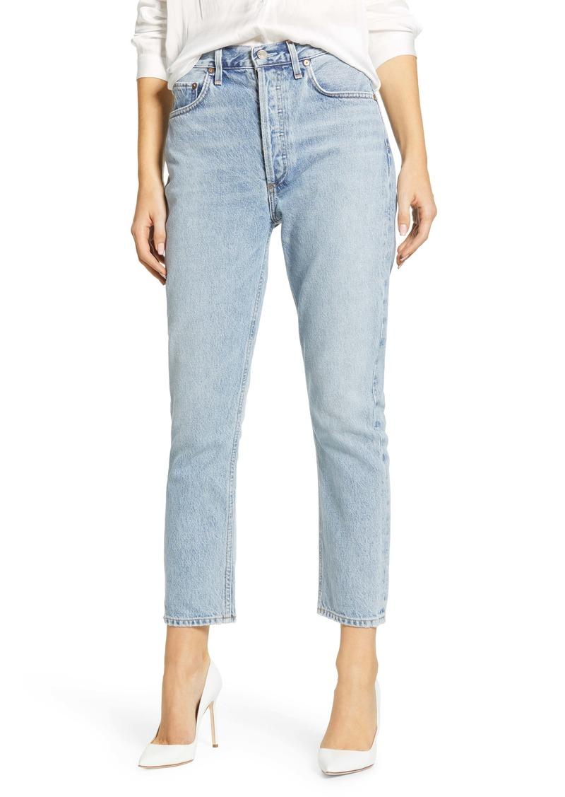 AGOLDE Riley High Waist Crop Straight Leg Jeans (Renewal)