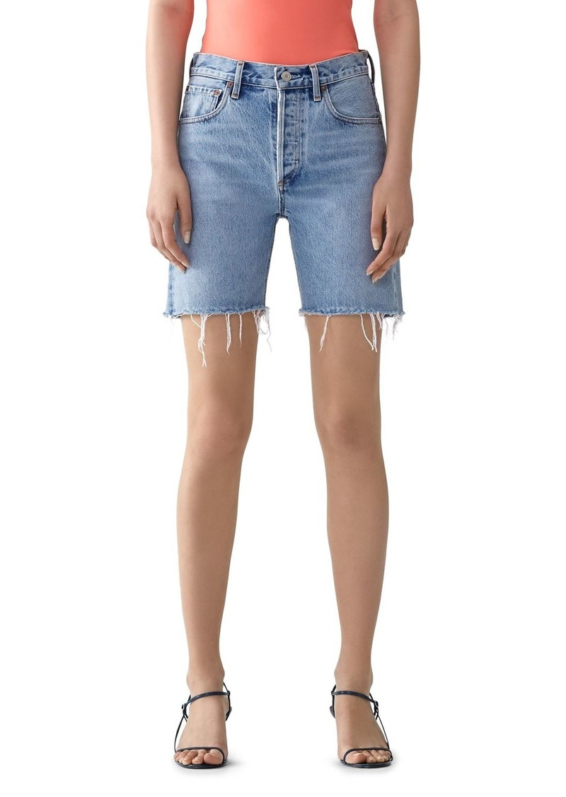 AGOLDE Rumi Mid-Length Denim Shorts in Renewal