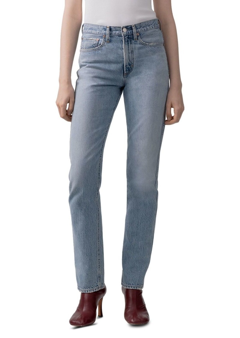 AGOLDE Tamryn Slim Straight Organic-Cotton Jeans in Discourse