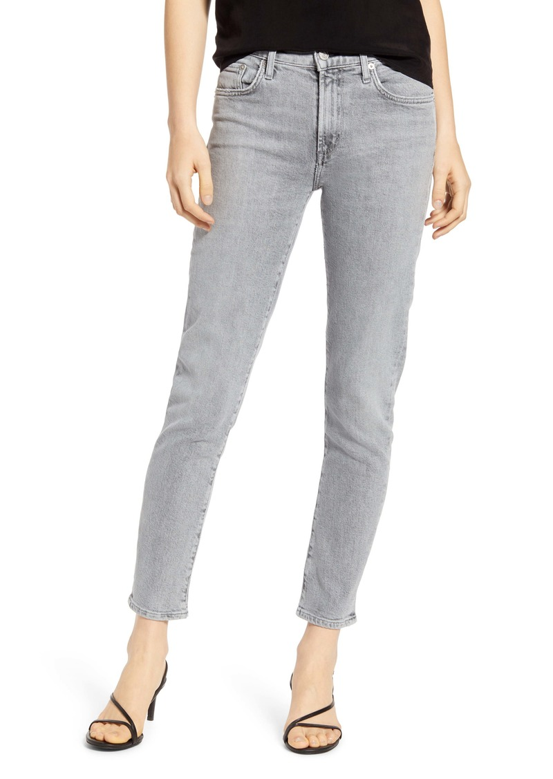 AGOLDE Toni High Waist Ankle Straight Leg Jeans (Mirror)