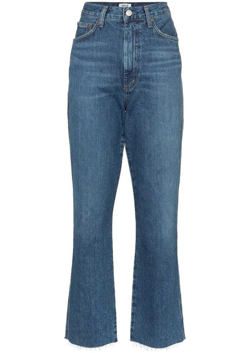 Agolde high-waisted kick-flare jeans