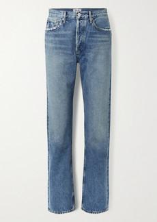 Agolde Net Sustain Lana Distressed Organic Low-rise Straight-leg Jeans