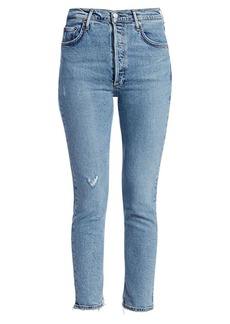 Agolde Nico High-Rise Anke Cropped Slim-Fit Jeans