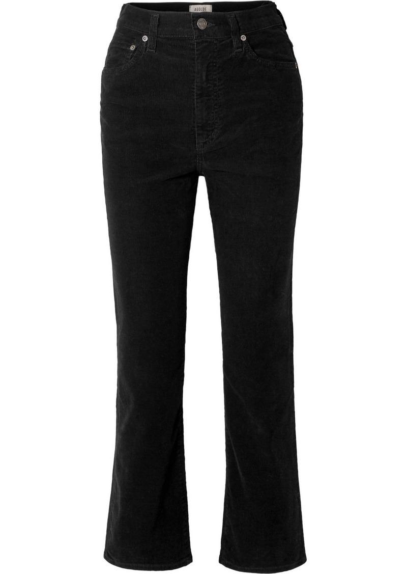 Agolde Pinch Waist Cotton-blend Corduroy Flared Pants