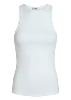 Agolde Rib Knit Cotton Tank Top