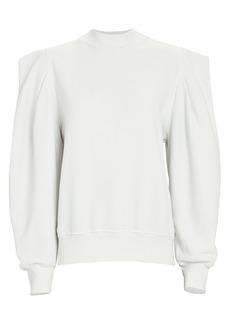Agolde Strong Shoulder Cotton Sweatshirt