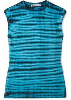 Agolde Tie-dyed Cotton-jersey Tank