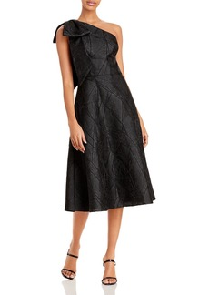 Aidan Mattox One Shoulder Jacquard Cocktail Dress - 100% Exclusive